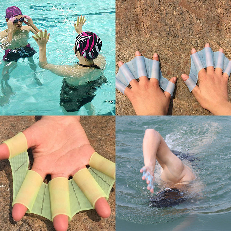 Swimming Freedom Like Frog Silicone Gloves