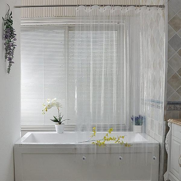 Waterproof Mesh Pockets Shower Curtain