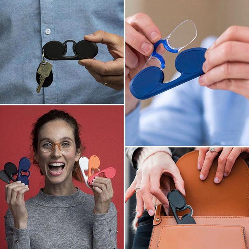 Portable Mini Nose Clip Reading Glasses
