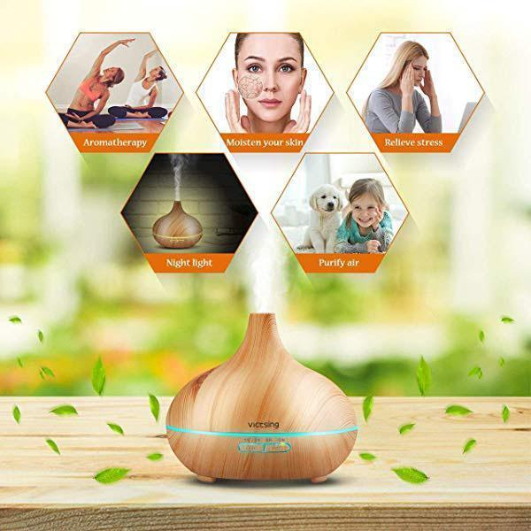 Ultrasonic Wood Grain Aromatherapy Machine