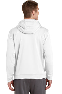 Sport-Wick Performance Fleece Hooded Pullover / White / NESI