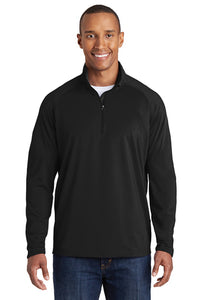 Sport-Wick Stretch 1/2-Zip Pullover / Black / NESI