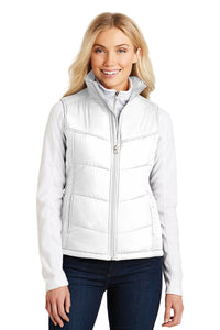 Ladies Puffer Vest / White / Beach FC
