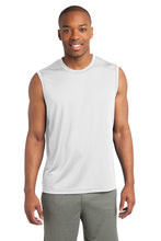 Load image into Gallery viewer, Sleeveless PosiCharge Competitor Tee / White / NESI