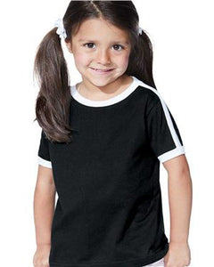 Toddler Soccer Tee / White & Black / Beach FC