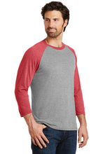 Load image into Gallery viewer, Perfect Triblend 3/4-Sleeve Raglan / Gray Frost & Red Frost / Beach FC