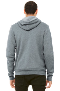 Unisex Sponge Fleece Full-Zip Hoodie / Heather Grey / Beach FC