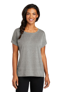 Ladies Activewear Cuffed Short Sleeve / Heather Gray / Beach FC