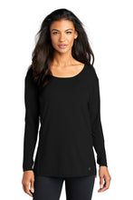 Load image into Gallery viewer, Ladies Activewear Long Sleeve Tunic / Black / Beach FC