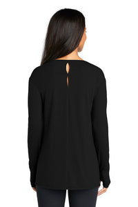 Ladies Activewear Long Sleeve Tunic / Black / Beach FC