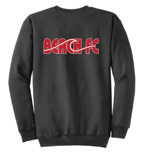 Fleece Crewneck Sweatshirt (Youth & Adult ) / Heather Charcoal / Beach FC