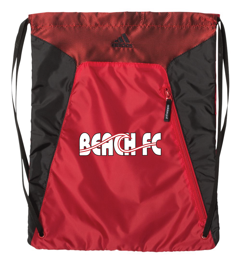 Adidas Soccer Sack / Black & Red  / Beach FC