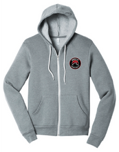 Load image into Gallery viewer, Unisex Sponge Fleece Full-Zip Hoodie / Heather Grey / Beach FC