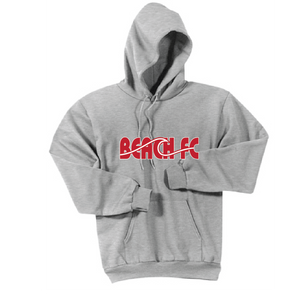 Youth Fleece Pullover Hoodie / Heather Gray / Beach FC