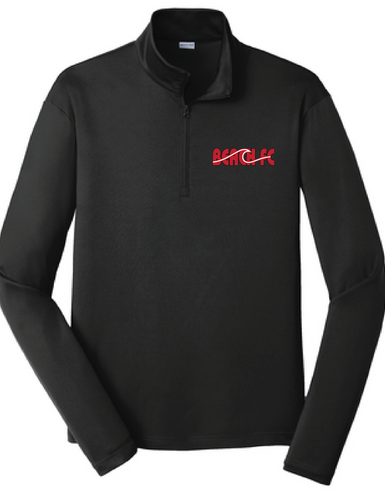 Ultra Plush 1/4 zip  / Black / Beach FC