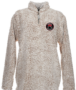 Sherpa Quarter-Zip Pullover (Youth and Adult) / Oatmeal Heather / Beach FC