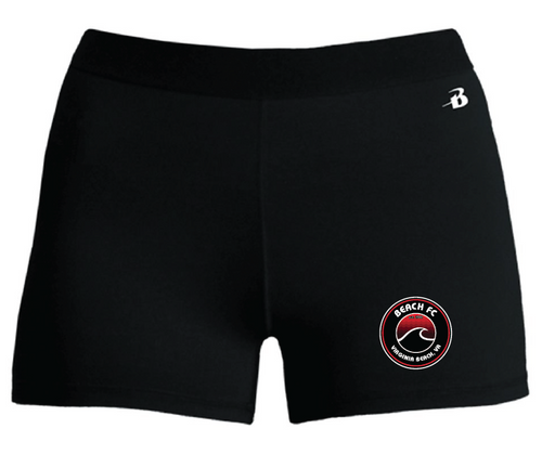 Girls Pro-Compression Shorts / Black / Beach FC