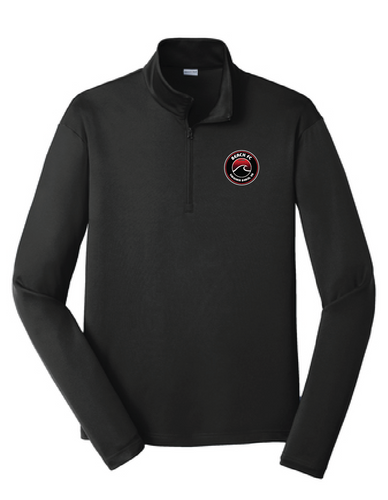 Performance Fleece 1/4-Zip Pullover Sweatshirt / Jet Black / Beach FC