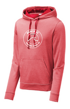 Load image into Gallery viewer, Sport-Wick Performance Heather Fleece Hooded Pullover / Heather Red / Beach FC