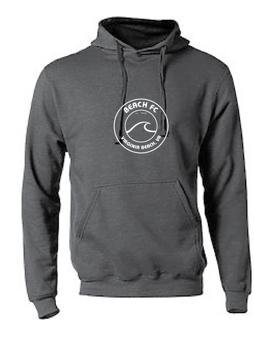 Fleece Pullover Hoodie / Charcoal / Beach FC