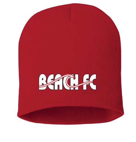 Knit Beanie / Red  / Beach FC