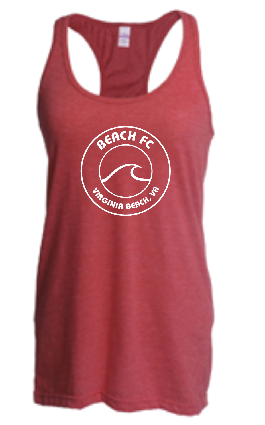 Racerback Tank Top / Heather Red / Beach FC