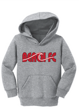 Load image into Gallery viewer, Toddler Core Fleece Pullover Hooded Sweatshirt / Ash Gray / Beach FC