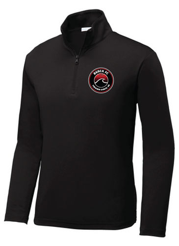 Youth PosiCharge Competitor 1/4-Zip Pullover / Black / Beach FC