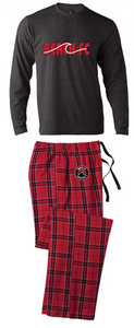 Flannel Pajamas / Red & Black Plaid / Beach FC
