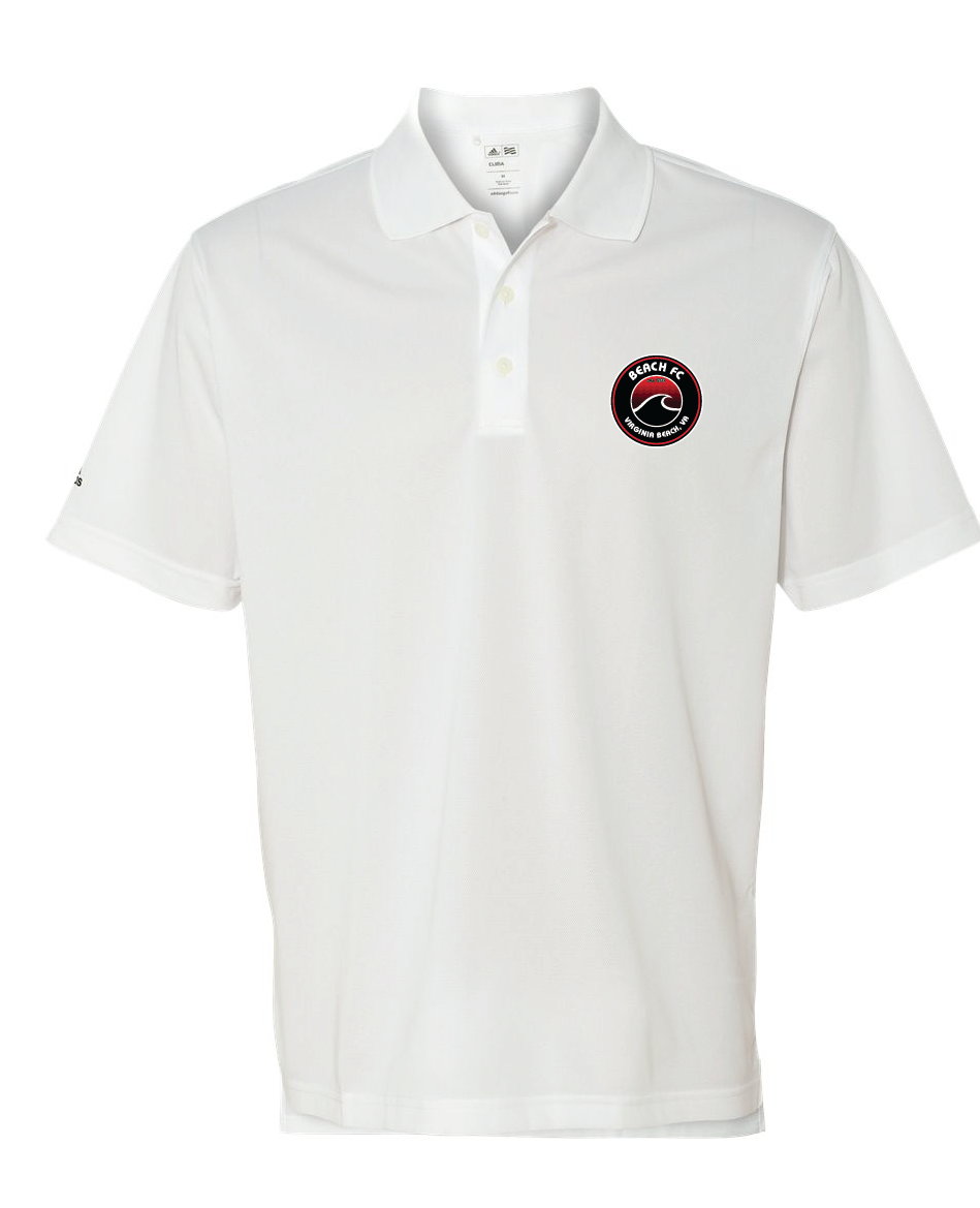 Adidas - Performance Sport Polo / White / Beach FC