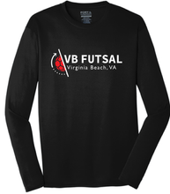 Load image into Gallery viewer, Long Sleeve Performance Tee / Black / VB Futsal