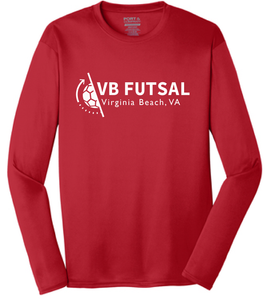 Long Sleeve Performance Tee / Red / VB Futsal