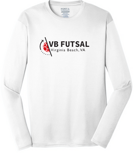 Long Sleeve Performance Tee (Youth & Adult ) / White / VB Futsal