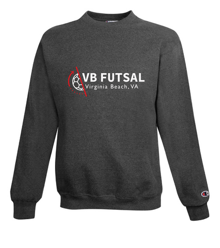 Champion Crewneck Sweatshirt / Charcoal Heather / VB FUTSAL