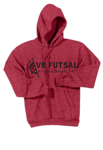 Fleece Pullover Hooded Sweatshirt (Youth & Adult) / Red / VB FUTSAL