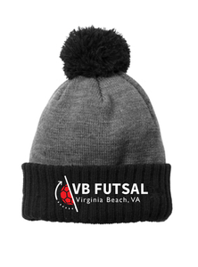 Colorblock Cuffed Beanie / Black / VB Futsal