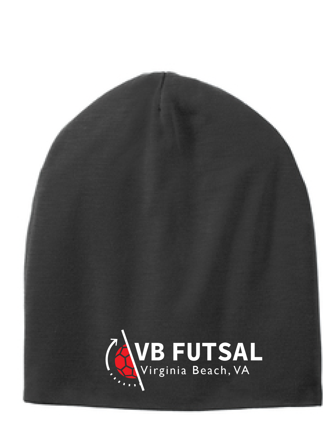 Competitor Cotton Touch  Slouch Beanie/ Black / VB Futsal
