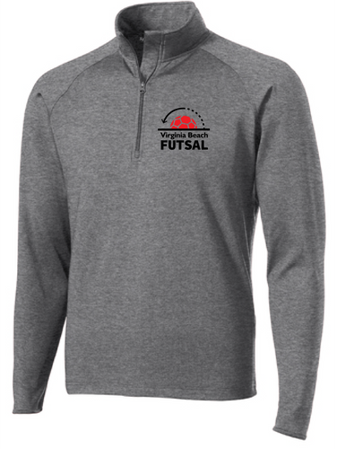 Sport-Wick® Stretch 1/2-Zip Pullover / Charcoal  / VB Futsal Staff