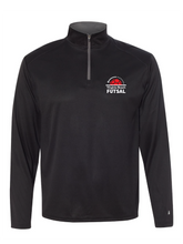 Load image into Gallery viewer, 1/4 Zip Pullover / Black / VB Futsal
