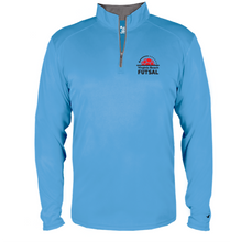 Load image into Gallery viewer, 1/4 Zip Pullover / Columbia Blue / VB Futsal