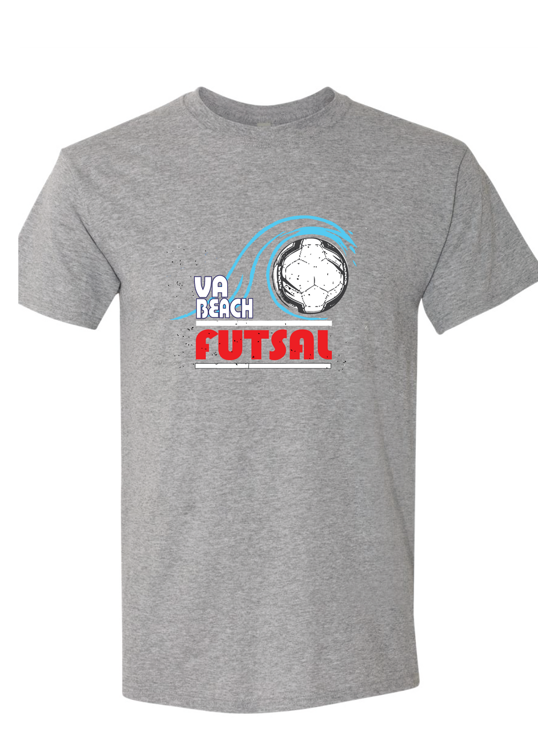 Vintage Short Sleeve T-Shirt (Youth & Adult) / Grey / VB FUTSAL