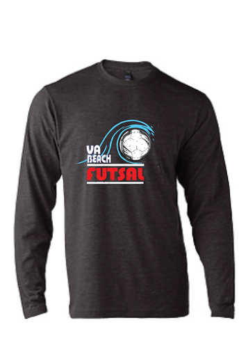 Vintage Triblend long sleeve T-Shirt / Heather Grey / VB FUTSAL