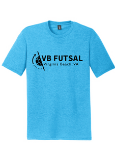 Triblend Short Sleeve T-shirt / Turquoise Frost / VB Futsal