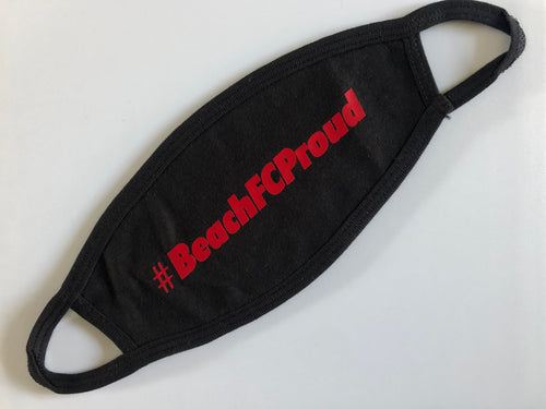 #BeachFCProud Cotton Mask / Black / Beach FC