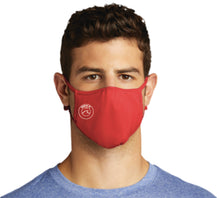 Load image into Gallery viewer, PosiCharge Athletic Adjustable Face Mask / Red / Beach FC