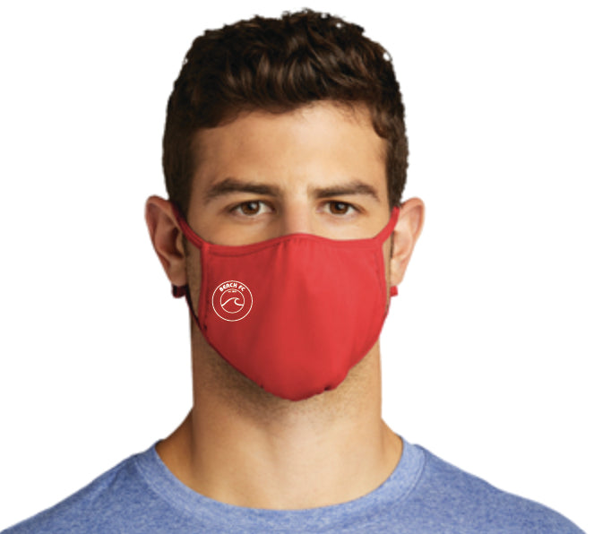 PosiCharge Athletic Adjustable Face Mask / Red / Beach FC