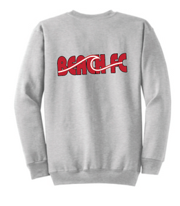 Crewneck Sweatshirt (Youth & Adult) / Ash Gray / Beach FC