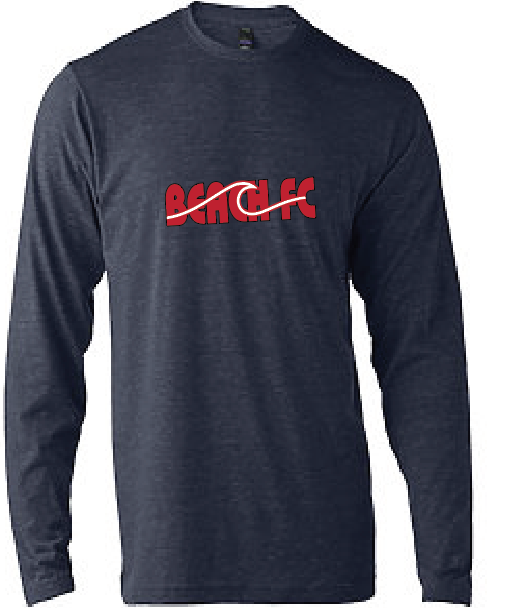 Triblend Long Sleeve / Heather Gray / Beach FC