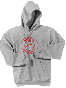 Fleece Pullover Hoodie / Heather Gray / Beach FC