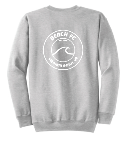 Crewneck Sweatshirt / Athletic Gray / Beach FC